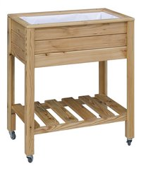 Royal Well Moestuintafel Planter-On-Wheels bruin