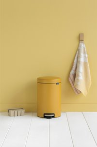 Brabantia Pedaalemmer newIcon mineral mustard yellow 12 l-Afbeelding 1