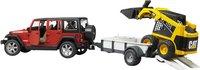 Bruder jeep Wrangler + remorque et pelleteuse-Détail de l'article