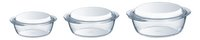 Pyrex Set de 3 plats à four ronds Essential