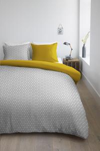 Ambiante Housse de couette Todd yellow coton 140 x 220 cm-Image 2