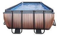 EXIT piscine Wood avec filtre à sable 4 x 2 m-Avant