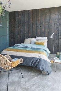 Beddinghouse Housse de couette Linee blue satin de coton 140 x 220 cm-Image 2