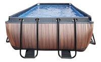 EXIT piscine Wood avec coupole et filtre à sable 4 x 2 m-Avant