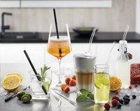 Gefu 4 cocktailrietjes Future met reinigingsborsteltje-Afbeelding 1