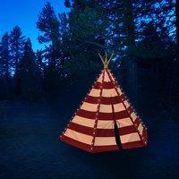 Sunny tipi Lumo avec éclairage LED rouge/blanc-Image 1