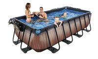 EXIT piscine Wood avec coupole et filtre à sable 4 x 2 m-Image 2