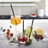 Gefu 4 cocktailrietjes Future met reinigingsborsteltje-Afbeelding 2