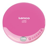 Lenco lecteur MP3 et CD portable CD-011 rose-Avant