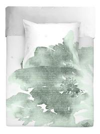 Walra Housse de couette Green blossom jade coton 140 x 240 cm-Avant