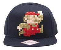 Casquette Mario Bros 3D pixel noir