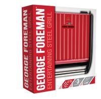 George Foreman Multigril Entertaining Steel-Côté gauche