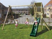 BnB Wood schommeltoren Diest met groene glijbaan-Afbeelding 2