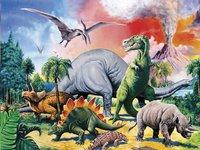 Ravensburger puzzle Entre dinosaures-Avant