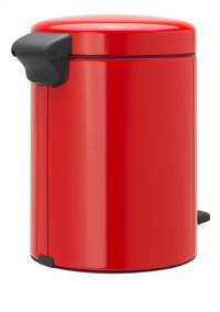 Brabantia Pedaalemmer NewIcon passion red 5 l-Linkerzijde