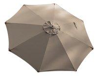 Parasol de luxe en bois FSC diamètre 3,5 m taupe