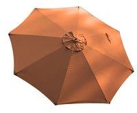 Parasol de luxe en bois FSC diamètre 3 m terracotta
