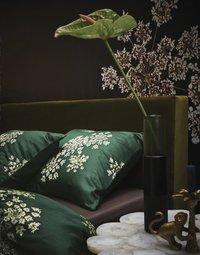 Essenza Dekbedovertrek Lauren green katoensatijn 140 x 220 cm-Afbeelding 2