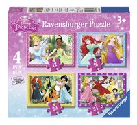 Ravensburger meegroeipuzzel 4-in-1 Disney Princess