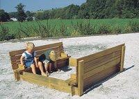 Forest-Style bac à sable Combi avec bancs et couvercle 150 cm-Image 2