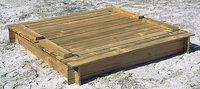 Forest-Style bac à sable Combi avec bancs et couvercle 150 cm-Avant