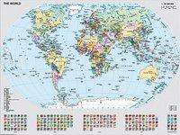 Ravensburger puzzel Staatkundige wereldkaart -Vooraanzicht