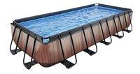 EXIT piscine Wood filtre à sable 5,40 x 2,50 m-Côté droit