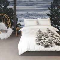 Romanette dekbedovertrek Winter Pine flanel-commercieel beeld