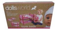 Dolls World houten stapelbed voor pop-Vooraanzicht