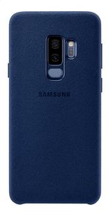 Samsung cover Alcantara Galaxy S9+ blauw-Achteraanzicht