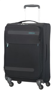 American Tourister Zachte reistrolley Herolite Super Light Spinner EXP volcanic black 55 cm