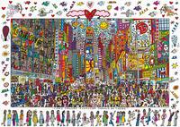Ravensburger puzzel James Rizzi: Times Square-Vooraanzicht