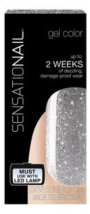 SensatioNail Gel Polish Silver Glitter