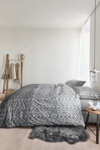 Ariadne at Home Housse de couette Handcraft coton dark grey 140 x 220 cm-commercieel beeld
