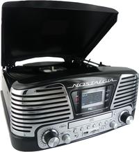 bigben radio/lecteur CD/tourne-disques TD79NM Nostalgia noir