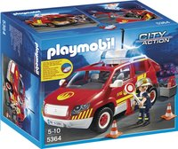 Playmobil City Action 5364 Brandweercommandant met dienstwagen met licht en sirene-Vooraanzicht