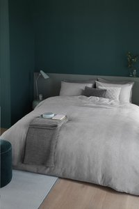 Beddinghouse Dekbedovertrek Frost flanel light grey 140 x 220 cm-commercieel beeld