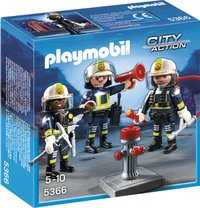 Playmobil City Action 5366 Trio brandweermannen-Vooraanzicht