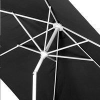 Parasol en aluminium 2 x 3 m noir-Détail de l'article