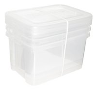 Allibert Set de 3 pièces Handy Box transparent 50 l