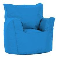 Pouf fauteuil petit turquoise