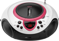 Lenco radio/lecteur CD portable SCD-38 rose-Avant