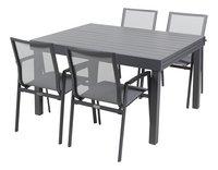 Ensemble de jardin Modulo/Bondi anthracite - 4 chaises-Côté droit