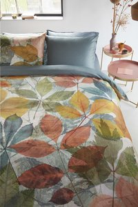 Beddinghouse Dekbedovertrek Leafage multi katoensatijn 200 x 220 cm-Afbeelding 2