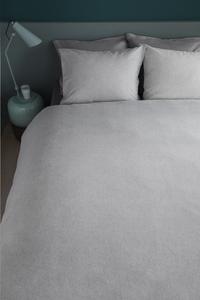 Beddinghouse Dekbedovertrek Frost flanel light grey 140 x 220 cm-Afbeelding 3