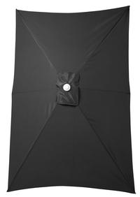 Aluminium parasol 2 x 3 m zwart-Artikeldetail