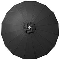 Parasol aluminium Shanghai diamètre 2,5 m noir-Détail de l'article