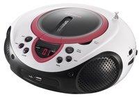 Lenco radio/lecteur CD portable SCD-38 rose-Côté gauche