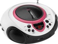 Lenco radio/lecteur CD portable SCD-38 rose-Côté droit