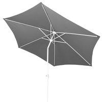 Parasol en aluminium diamètre 3 m gris-Détail de l'article